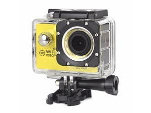 2.0 inch 1080P Action Camera Wifi 170 Degree Lens 50M Waterproof Pro Sport DV Bike Helmet Cam Mini Yellow Camcorder