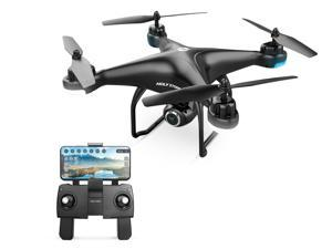 Holy Stone - HS120D Wi-Fi FPV Drone with 1080P Camera and GPS, Tap Fly Function, Black
