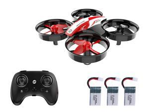 Holy Stone - HS210 Mini Indoor Drone with 3 Batteries, Red