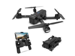 DEERC - DE25 Foldable GPS Wifi FPV Drone with 1080P Camera, Gesture Photo/Video, Custom Flight, Black