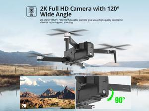 DEERC DE22 FPV Drone with FHD 2K Camera Brushless Motor 5G WI-FI Transmission GPS Quadcopter