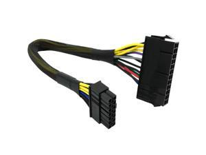24 Pin to 14 Pin ATX PSU Main Power Adapter Braided Sleeved Cable for IBM/Lenovo PCs and Servers 12-inch(30cm)