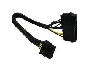 24 Pin to 10 Pin ATX PSU Main Power Adapter Braided Sleeved Cable for IBM/Lenovo PCs and Servers 12-inch(30cm)