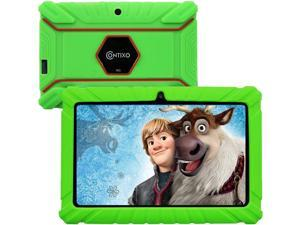 Contixo V8-2 7 inch Kids Tablets - Tablet for Kids with Parental Control - Android Tablet 16 GB HD Display Durable Case & Screen Protector WiFi Camera-Learning Toys for 2 to 10 Years Old (Green)