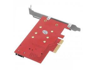 M.2 NGFF 4 Lane SSD to PCI-E 3.0 x4 & NGFF to SATA Adapter for XP941 SM951 PM951 A110 m6e SSD