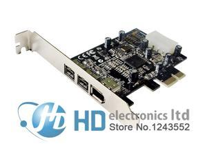 PCIE Combo 2x 1394b + 1x 1394a Firewire Ports PCI-Express Controller Card 1394 card TI Chipset 6pin cable win10