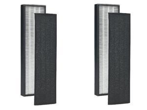 (2-Pack) True HEPA Replacement Filter Fits GermGuardian FLT5250PT 5000/5111, PureGuardian AP2800CA, Black+Decker BXAP250 Air Purifiers