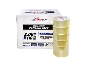 """72 Rolls Heavy Duty Packing Tape Shipping Moving Storage Transparent Bubble Free Adhesive Box Carton Packaging Seal 2"""" x 110 Yards 2.0 mil"""