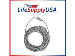 17/2 35 ft. Upright Vacuum Electric 12-AMP Power Cord w/ Open End Striped Wire (35 Feet) Grey