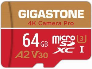 Gigastone 64GB Micro SD Card, 4K Camera Pro, UHD Video for GoPro, Action Camera, Wyze, DJI, Drone, Nintendo-Switch, R/W up to 95/35MB/s MicroSDXC Memory Card UHS-I U3 A1 V30 [5-Yrs Free Data Recovery]
