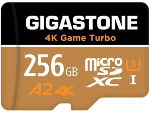 Gigastone 256GB Micro SD Card, 4K Game Turbo, Nintendo-Switch MicroSDXC Memory Card, GoPro, Action Camera, DJI, UHD Video, R/W up to 100/60MB/s, UHS-I U3 A2 V30 C10 [5-Yrs Free Data Recovery]