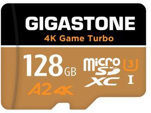 Gigastone 128GB Micro SD Card, 4K Game Turbo, Nintendo-Switch MicroSDXC Memory Card, GoPro, Action Camera, DJI, UHD Video, R/W up to 100/50MB/s, UHS-I U3 A2 V30 C10 [5-Yrs Free Data Recovery]