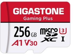 Gigastone 256GB Micro SD Card, Gaming Plus, Nintendo-Switch Compatible MicroSDXC Memory Card, 100MB/s, 4K Video Recording, Action Camera, Wyze, GoPro, Dash Cam, Security Camera, UHS-I A1 U3 V30