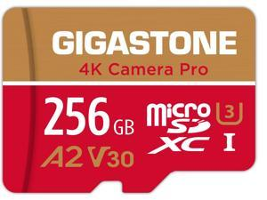 Gigastone 256GB Micro SD Card, 4K Video Recording for GoPro, Action Camera, DJI, Drone, Nintendo-Switch, R/W up to 100/60 MB/s MicroSDXC Memory Card UHS-I U3 A2 V30 C10 [5-Yrs Free Data Recovery]