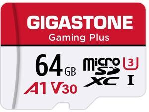 Gigastone 64GB Micro SD Card, Gaming Plus, Nintendo-Switch Compatible MicroSDXC Memory Card, 95MB/s, 4K Video Recording, Action Camera, Wyze, GoPro,Dash Cam, Security Camera, UHS-I A1 U3 V30 Class 10