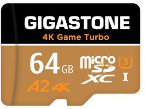 Gigastone 64GB Micro SD Card, 4K Game Turbo, Nintendo-Switch MicroSDXC Memory Card, GoPro, Action Camera, DJI, Drone, UHD Video, R/W up to 95/35MB/s UHS-I U3 A2 V30 C10 [5-Yrs Free Data Recovery]