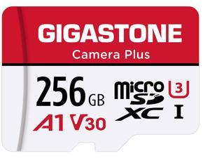 Gigastone 256GB Micro SD Card, Camera Plus, GoPro, Action Camera, Sports Camera, A1 Run App for Smartphone, Nintendo-Switch Compatible, 100MB/s, 4K Video Recording, Micro SDXC UHS-I A1 U3 Class 10
