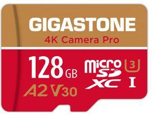 Gigastone 128GB Micro SD Card, 4K Video Recording for GoPro, Action Camera, DJI, Drone, Nintendo-Switch, R/W up to 100/50 MB/s MicroSDXC Memory Card UHS-I U3 A2 V30 C10 [5-Yrs Free Data Recovery]