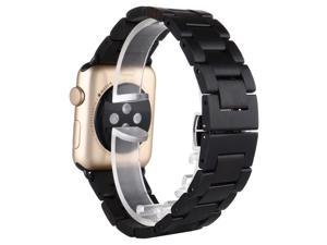100% Natural Ebony Wooden WatchBand For Apple iWatch Strap Wood Watch Bands with Adaptor For Apple Watch 38mm 42mm + Black connector