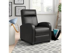 Homall Recliner Chair Padded Seat Pu Leather for Living Room Single Sofa Recliner Modern Recliner Seat Club Chair Home Theater Seating
