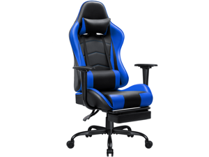 Homall High-back Recliner Gaming Chair Swivel Office Chair PU Leather Adjustable Height Racing Style Computer Chair with Lumber Support Ergonomic Gaming Chair with Headrest and Footrest