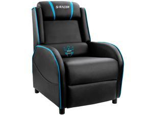 Homall Gaming Recliner Chair Racing Style Single Living Room Sofa Recliner PU Leather Recliner Seat Home Theater Seating (Blue)