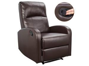 Homall Massage Recliner Chair Padded PU Leather Home Theater Seating Modern Chaise Couch Lounger Sofa Seat (Brown)