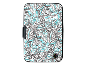 Maui and Sons RFID Wallet, Secured Aluminum Credit Card Holder - Prevent Electronic RFID Scan Theft (Palm Trees)