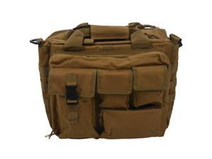 "Pro- Multifunction Mens Military  Outdoor Nylon Shoulder Messenger Bag Handbags Briefcase Large Enough for 14"" Laptop/Sony/Canon/Nikon/Olympus/iPad Khaki"