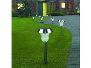 4 Pack Solar Garden Lights Outdoor Stainless Steel White LED Pathway Lamp Garden Decoration Landscape Lighting