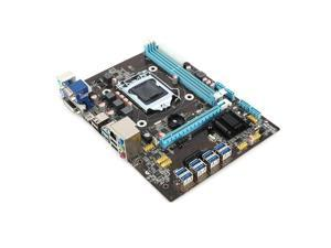 Motherboard for Cryptocurrency Bitcoin Ethereum Mining Machine for 8 Graphics Cards Slots USB3.0 USB2.0 SATA3.0 DDR3 VGA HDMI DVI