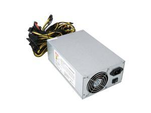 1800W High Efficiency Power Supply For 6GPU Crypto BTC Eth Rig Ethereum Coin Mining Machine bring 6 graphics cards with Low Noise Cooling Fan