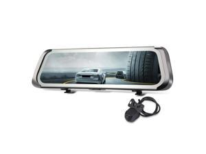 Dashcam Car DVR 9.35 inch 140 Degree Wide Angle View 1080P HD Rearview Mirror Dual Camera Driving Recorder Parking Monitor