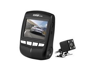 Car Camcorder 1296P FHD Dual Camera Built-in WiFi Night Vision Mini Dash Cam Rear View Loop Record