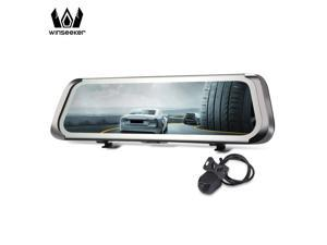 Dash cam 9.35 inch Touch Screen Car Rearview Mirror 140 Degree WDR Dual Camera Driving Recorder Parking Monitor