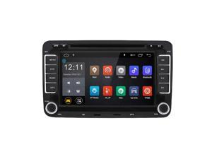 Volkswagen Universal Car DVD Player 7-Inch Display Touch Screen Built-in Bluetooth&Microphone Online Navigation- BLACK