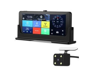 Dash Cam 4G Android WiFi Rearview Mirror 7 inch FHD 1080P Dual Camera Built-in GPS Navigation Auto Reserve Parking