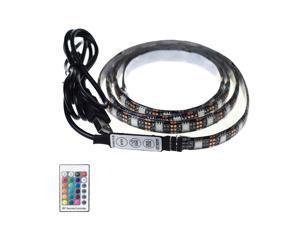 LED Strip Light RGB 2M USB Bias Monitor Lighting with 24 Key Remote Control
