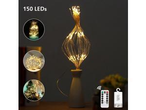 String Lamp for Lighting / Decor Warm White 150-LED Dimmable Starburst