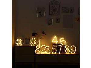 LED Neon Light 1M Hash # Sign IP42 AA Battery Powered Decoration for Christmas, Birthday, Bedroom, Corridor Patio, Garden, Wedding, Parties