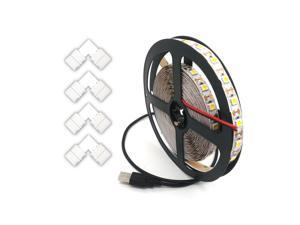 String Light USB 3.5M 5V 5050 TV Flexible Strip and L Type LED Strip Connector Warm White Light