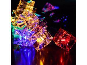 Ice Cubes String Lights Waterproof 4M 28LED Christmas Decorative Light String RGB EU Plug AC220-240V