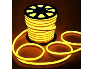 5M LED Strip Flexible Neon Lights Waterproof LED Yellow Light Lamp AC 220 - 240V US Plug