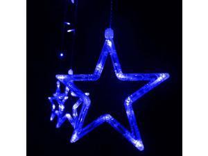 12 LEDs Star String Light Decoration Blue Light for Wedding Party Chrstmas EU Plug