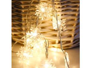 String Light LED Snowflake Pattern Festival Lights Decorative Lights 30LED