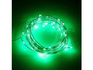 3M 30 LEDs Waterproof Copper Wire Green Fairy String Light