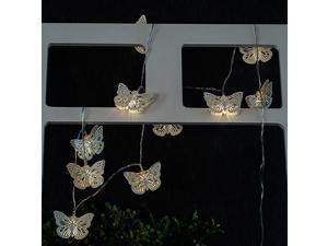 String Lights Iron Butterfly LED Home Decor Light Home Garden Battery Powered 1.65M 10 LED