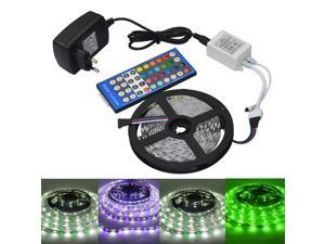 Strip Light 5M 5050 RGBW LED Light Strip + Remote Controller + 12V 2A Power Supply RGB + White Indoor for Decoration