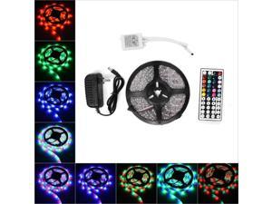 RGB Strip Light 5M Waterproof LED Flexible Strip 2835 RGB 300LEDS with 44KEY Ir Remote Controller And 12V 3A Power Supply US PLUG