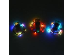 3pcs 2M 20 LEDs Mini String Light RGB CR2032 Battery Waterproof Lamp